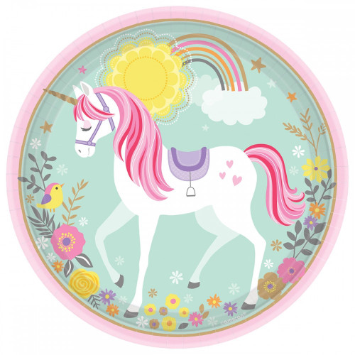 "P8 7"" PLATE MAGICAL UNICORN (17CM)"