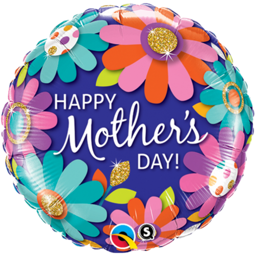 "FOIL 18"" MOTHERS DAY FASHION FLORAL"