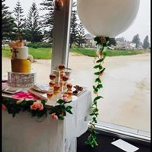 Tulle 3ft Large Balloon with Garland on weight