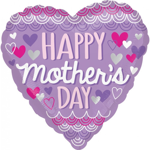 "FOIL 18"" MOTHERS DAY PURPLE SCALLOP"