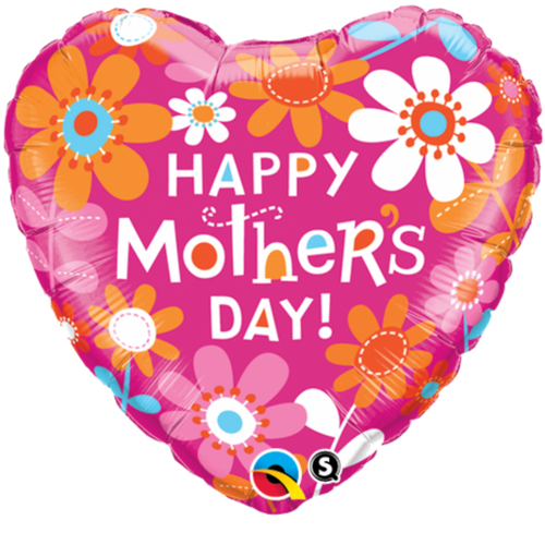 """FOIL 18"""" MOTHERS DAY CONTEMPO DAISIES"""