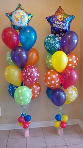Happy Birthday Star Foil Balloon Bouquet