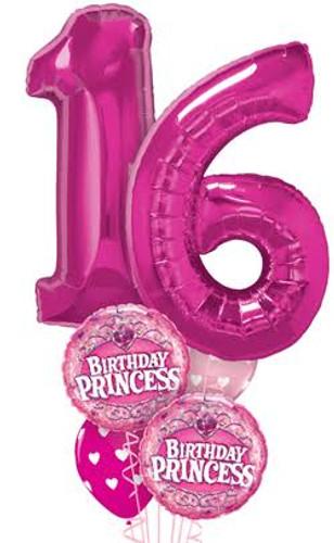 16th Birthday Princess Balloon Bouquet