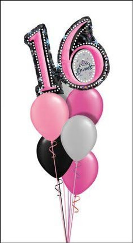 Beautiful 16th Birthday Balloon Bouquet
