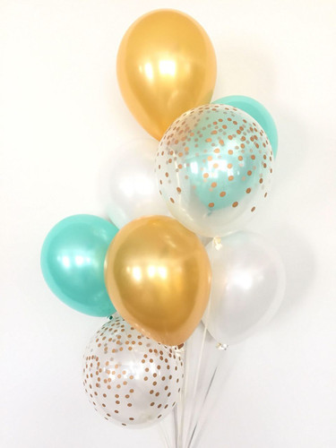Balloon Bouquet with clear balloons