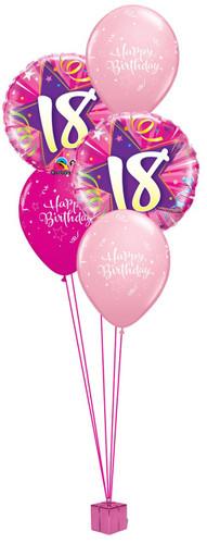18th Birthday Pink Balloon Bouquet