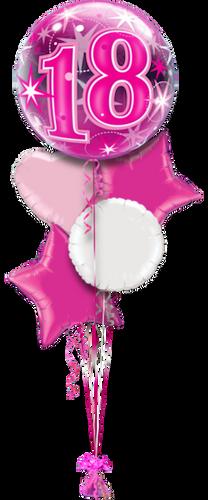Bubble 18th Birthday Balloon Bouquet