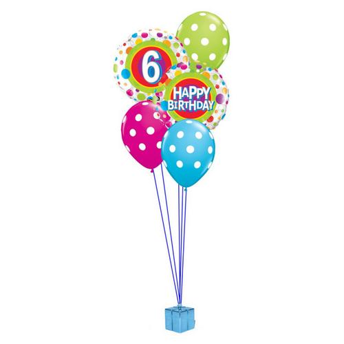 6th Birthday Balloon Bouquet