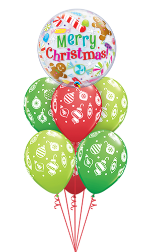 Merry Christmas Balloon Bouquet