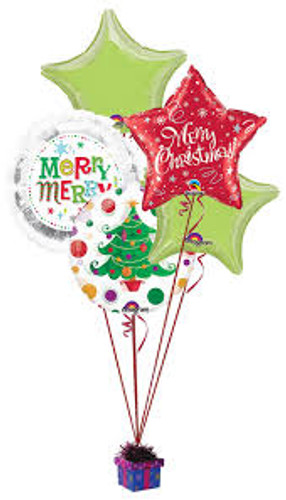 Christmas Foils Balloon Bouquet