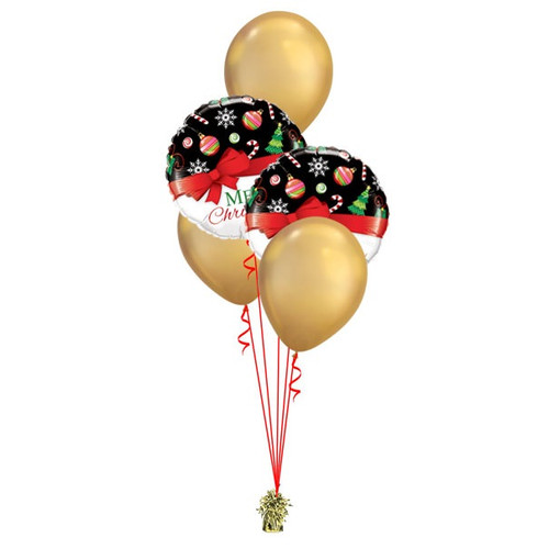 Christmas Gold Balloon Bouquet