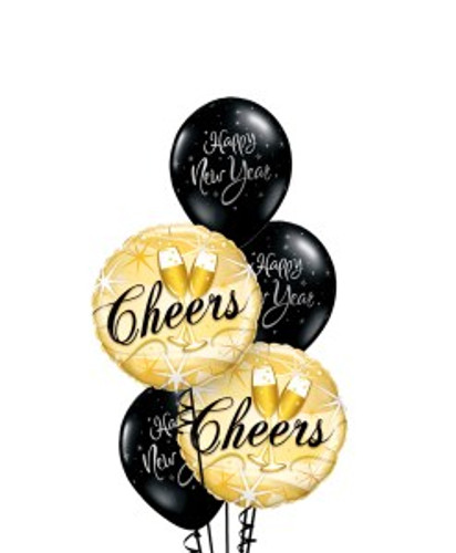 Cheers new year Balloon Bouquet