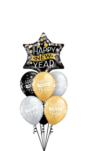 Star Happy New year Balloon Bouquet