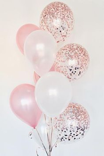 Confetti and latex Balloons Bouquet 2