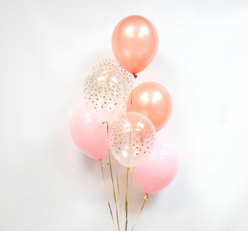Confetti and latex Balloons Bouquet 3