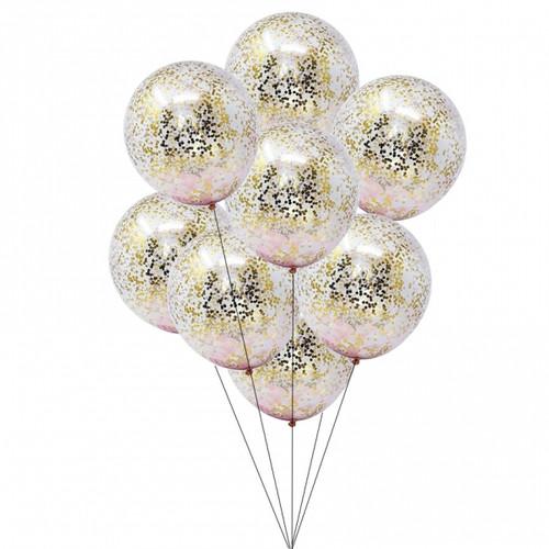 12 Confetti Balloons Bouquet