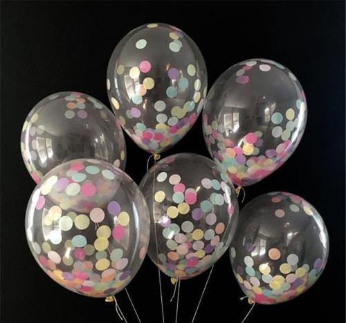 6 Confetti Balloons Bouquet