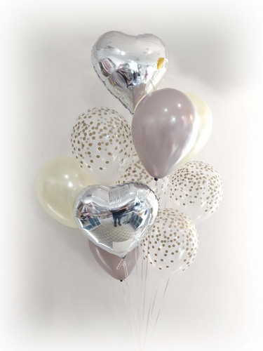 Heart Confetti Balloons Bouquet