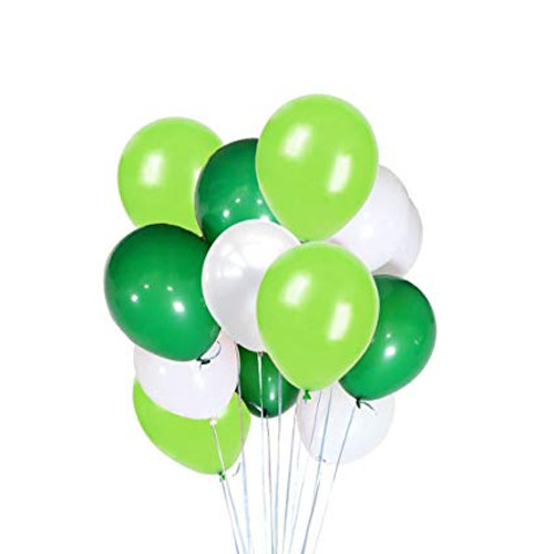 Balloon Bouquet Green and White