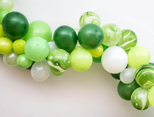 Balloon Garland Green and White