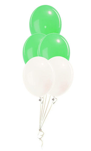 Balloon Bouquets Green and White 2