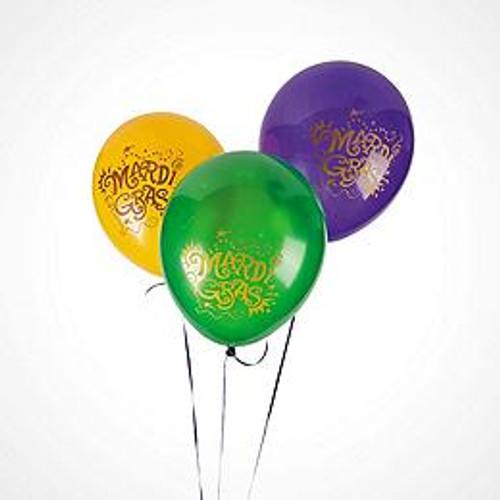 Mardi  gras Balloon Bouquets 1