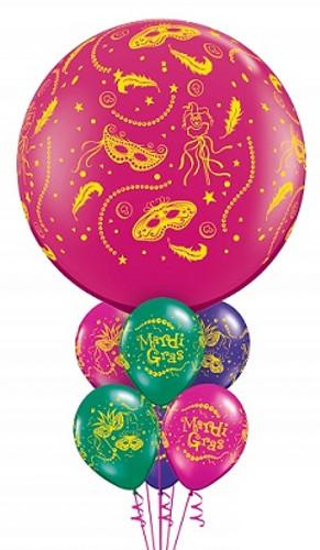 Mardi  gras Balloon Bouquets 3