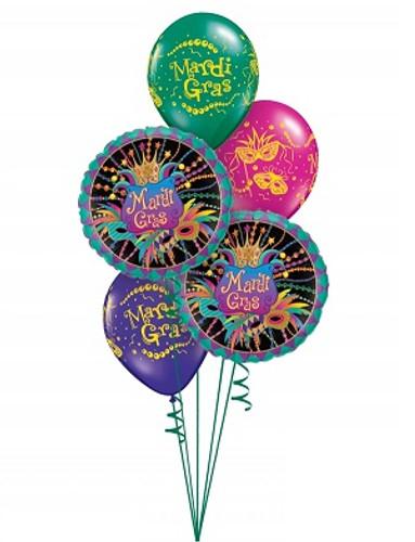 Mardi  gras Balloon Bouquets 6