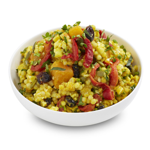 Tumeric Cous Cous with Cauliflower and Cranberry Salad