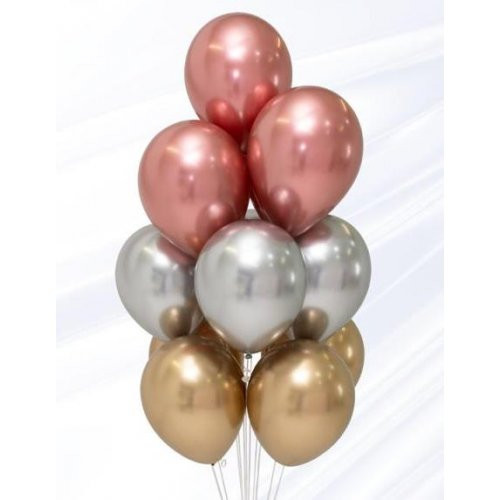 Assorted Chrome Balloon Bouquet