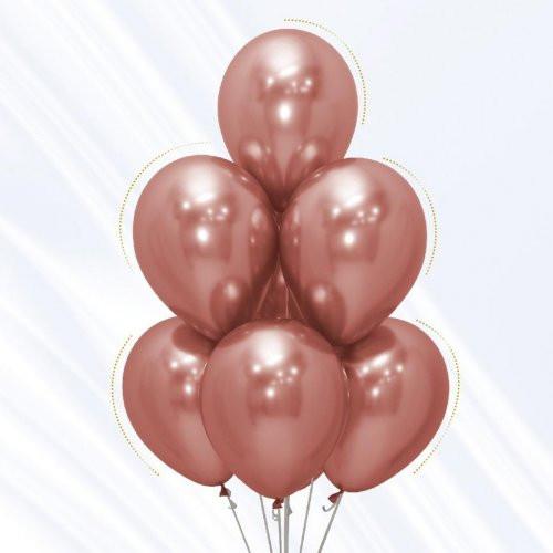 Chrome Rose Gold Balloon Bouquet