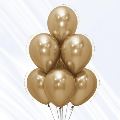 Chrome Gold Balloon Bouquet