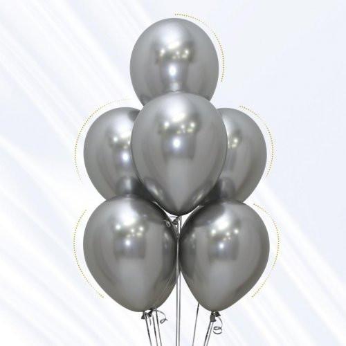 Silver Chrome Balloon Bouquet