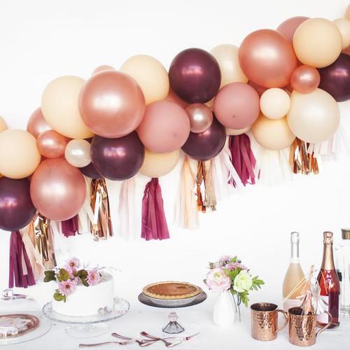 Organic balloon Garland with tassels