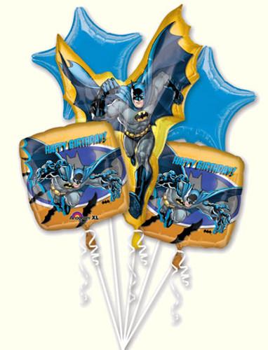 Batman Foil Birthday Balloon Bouquet