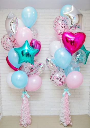 Twin Chic Balloon bouquet on weight