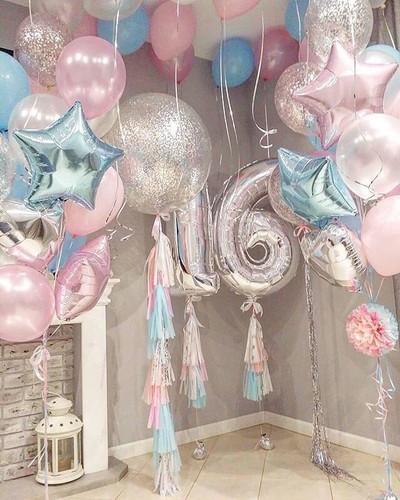 Sweet 16 Party balloon combo