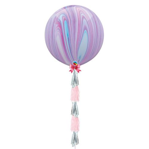 Marble Jumbo Balloon with Tassel