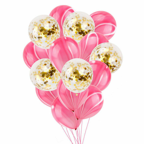 Marble Pink and Confetti Mix Balloon bouquet