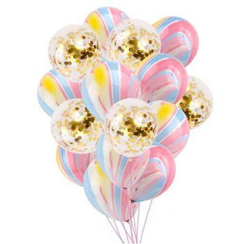 Marble and Confetti Mix Balloon bouquet