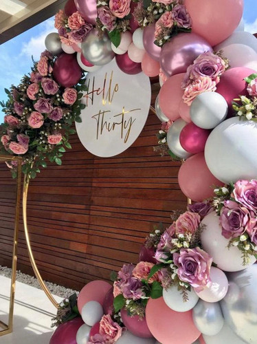 Balloon Arch Garland with Flowers