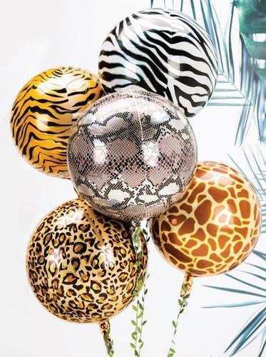 Animals Style Orbz Balloon Bouquet