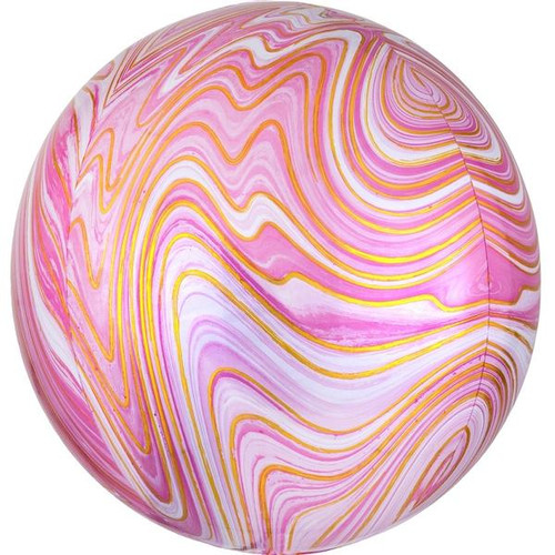 Marble Orb Balloon Pink