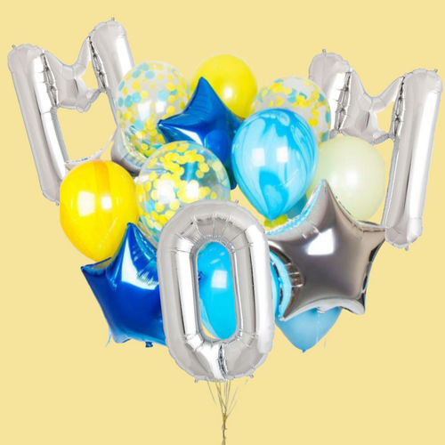 Letter and Sky Balloon bouquet