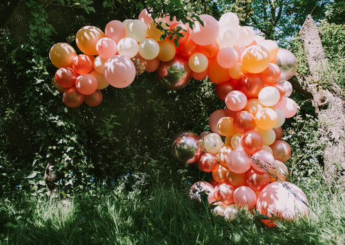 Orange Organic balloon garland
