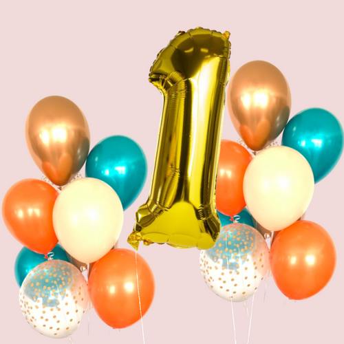 Multicolor balloon bundle