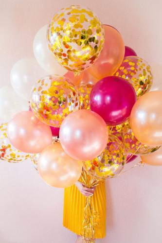 Colorful confetti balloon bouquet