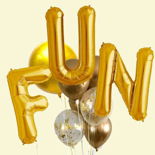 FUN Gold balloon bouquet
