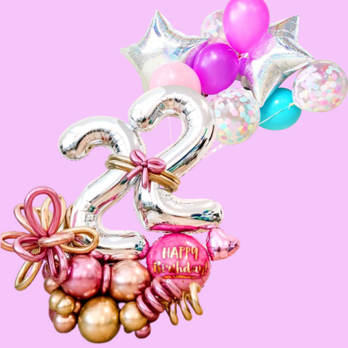 Glam rock gift balloon bouquet