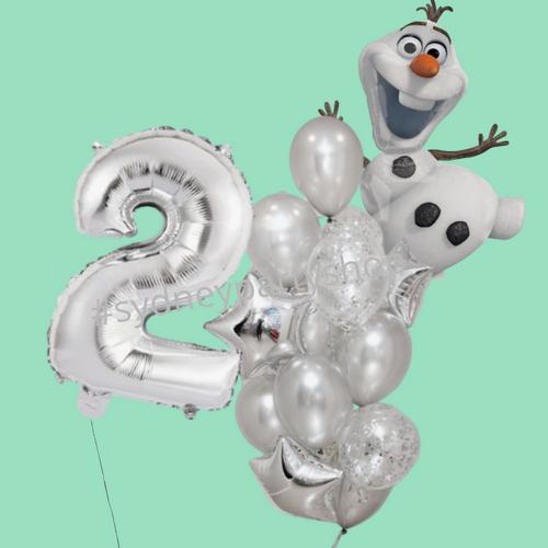 Olaf Balloon bouquet combo